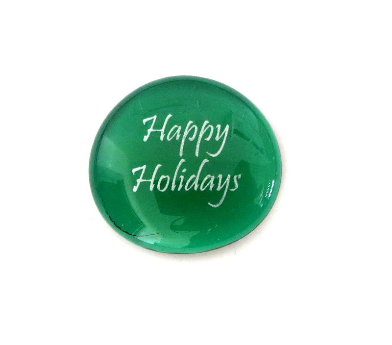 Happy Holidays... Glass Stone from Lifeforce Glass