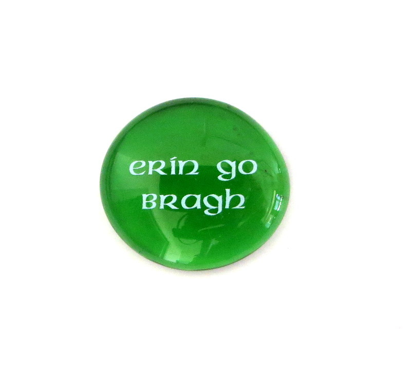 Erin go Bragh... Glass Stone from Lifeforce Glass