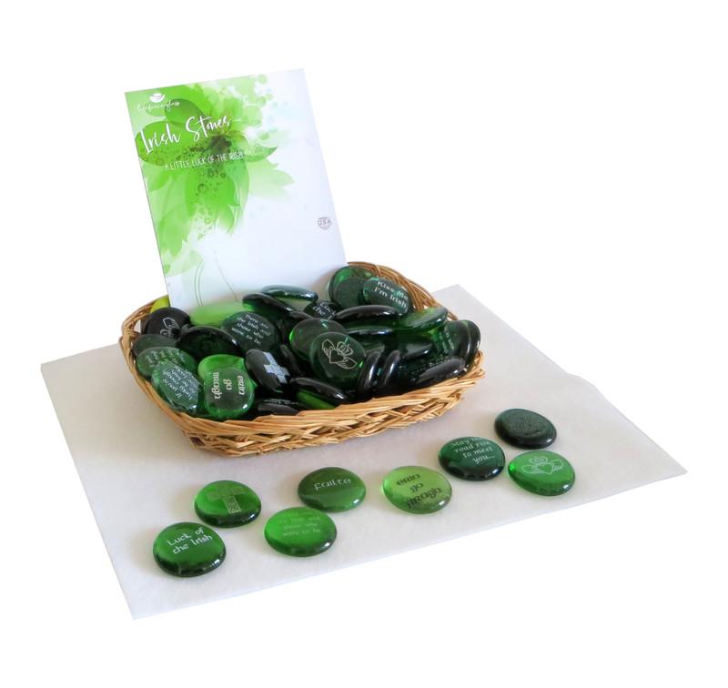 Irish Stone Assortment from Lifeforce Glass