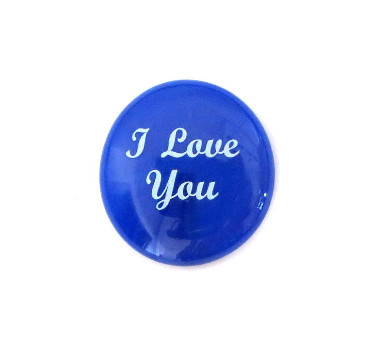 I love you... Glass Stone From Lifeforce Glass