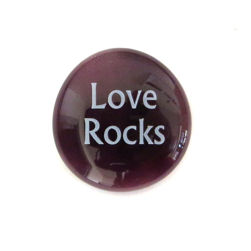 Love Rocks... Glass Stone From Lifeforce Glass