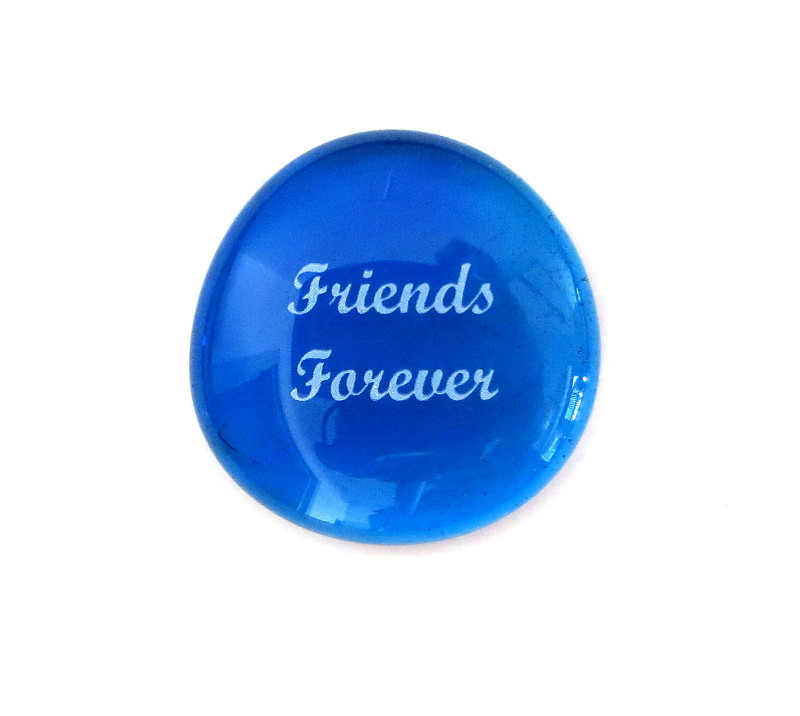 Friends Forever... Glass Stone From Lifeforce Glass