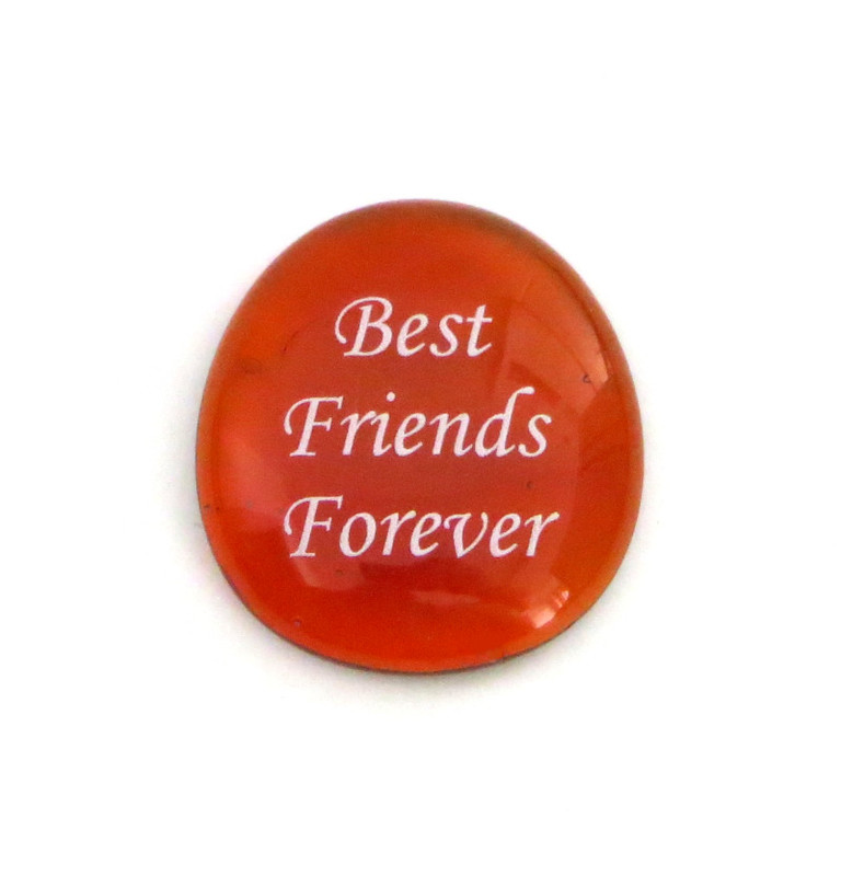 Best Friends Forever Glass Stone... From Lifeforce Glass Inc.