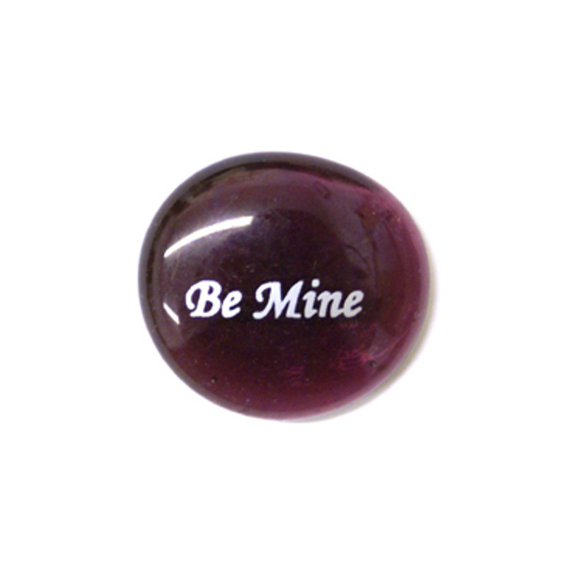Be Mine Glass Stone...From Lifeforce Glass Inc.