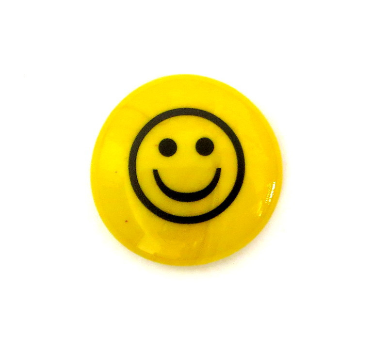 Happy Face... Glass Stone from Lifeforce Glass