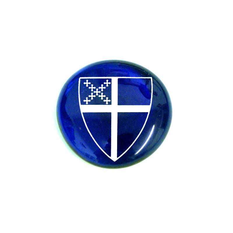 Episcopal Shield... Glass Stone from Lifeforce Glass