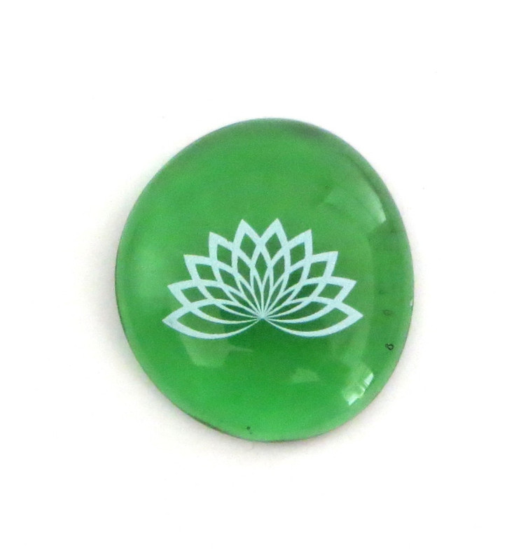 Lotus... Glass Stone From Lifeforce Glass