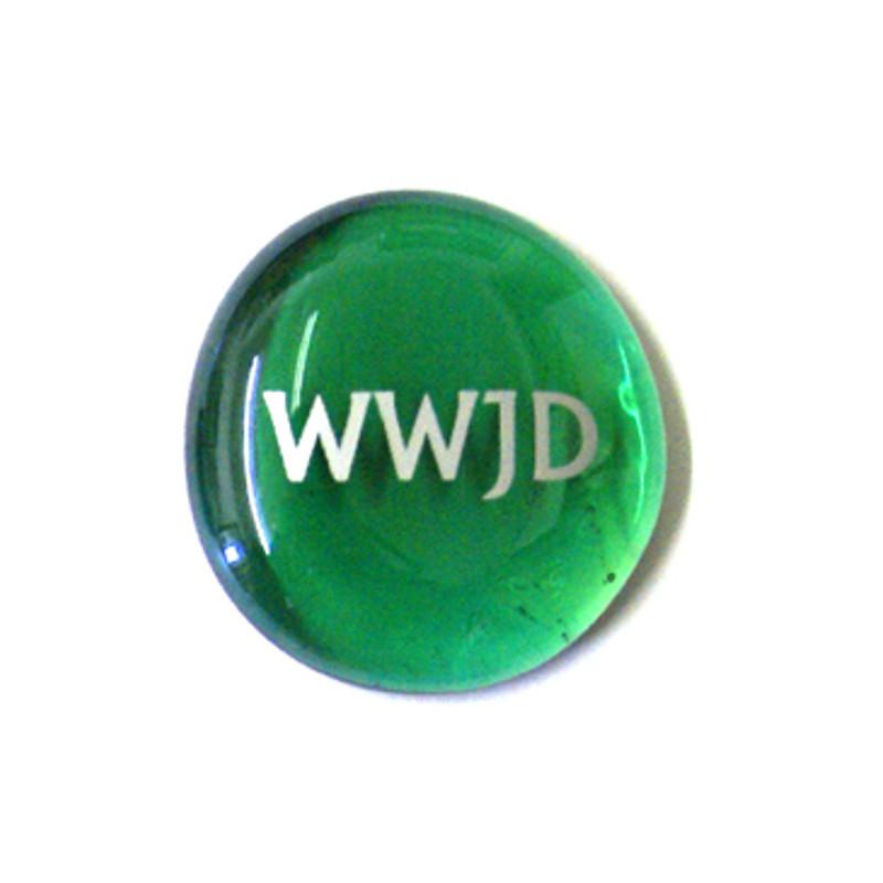 WWJD... Glass Stone from Lifeforce Glass