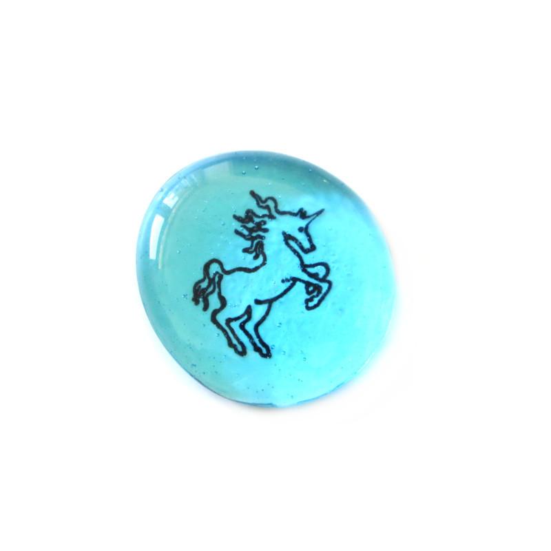 Unicorn... Glass Stone from Lifeforce Glass