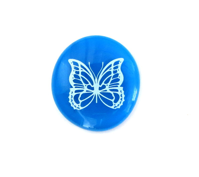 Butterfly... Glass Stone from Lifeforce Glass