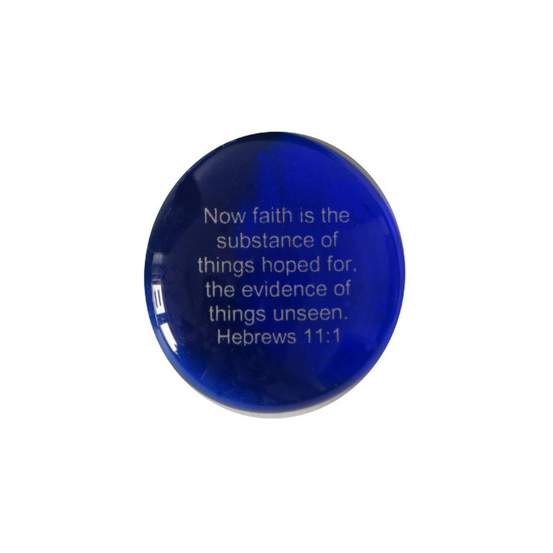 Now faith is the substance of things... Glass Stone from Lifeforce Glass