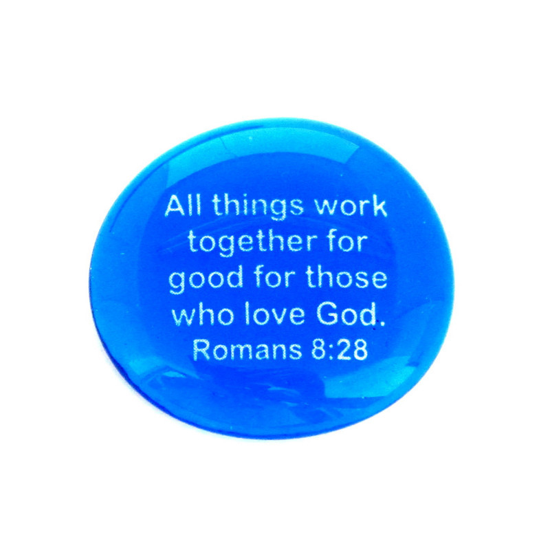 All things work together for good for those who love God. Romans 8:28