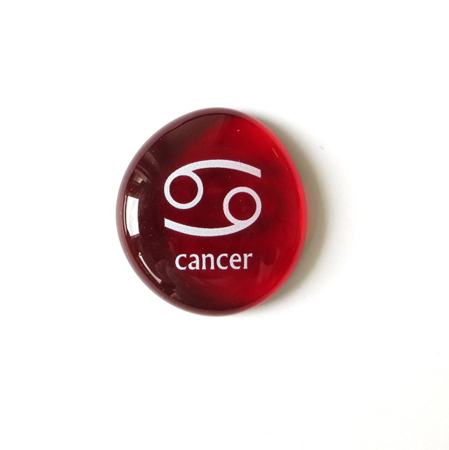 Cancer glass stone from Lifeforce Glass, Inc.