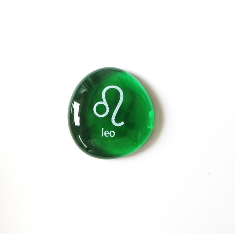 Leo glass stone from Lifeforce Glass, Inc.