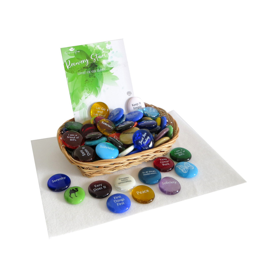 Recovery Assortment of Glass Stones from Lifeforce Glass