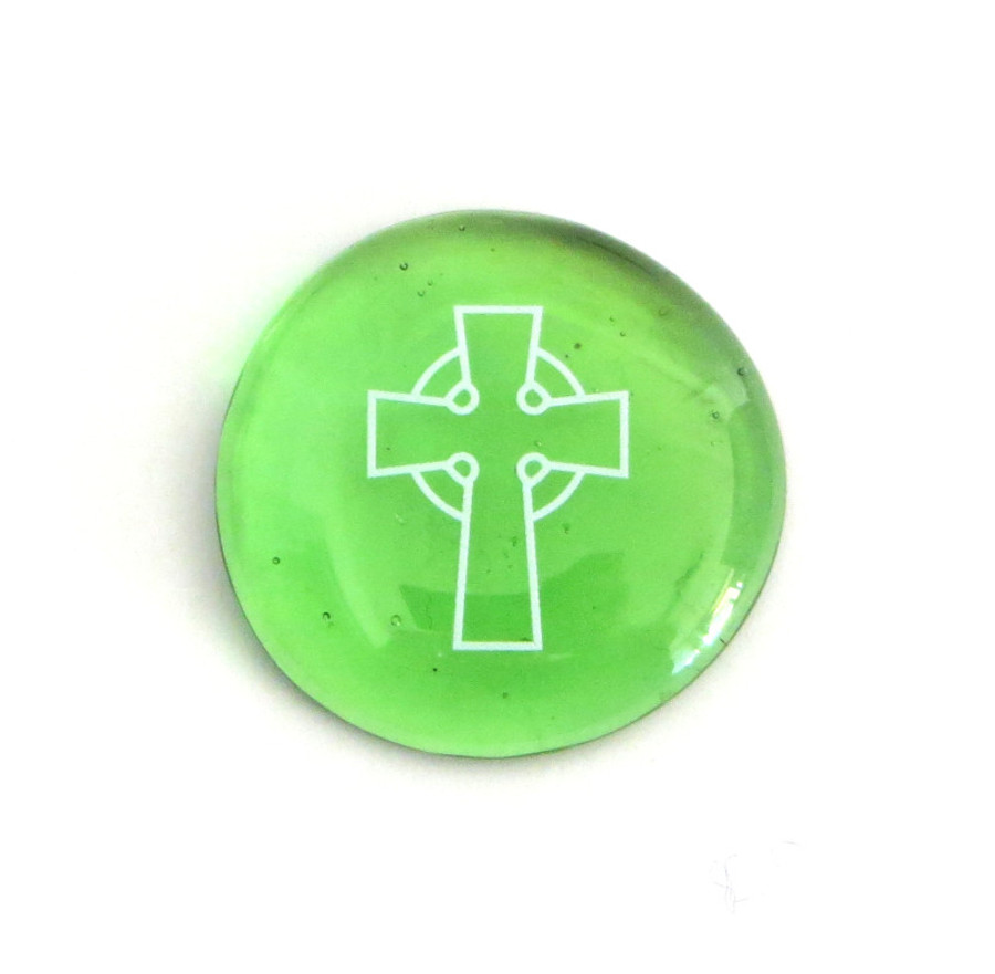 Celtic Cross 2... Glass Stone from Lifeforce Glass