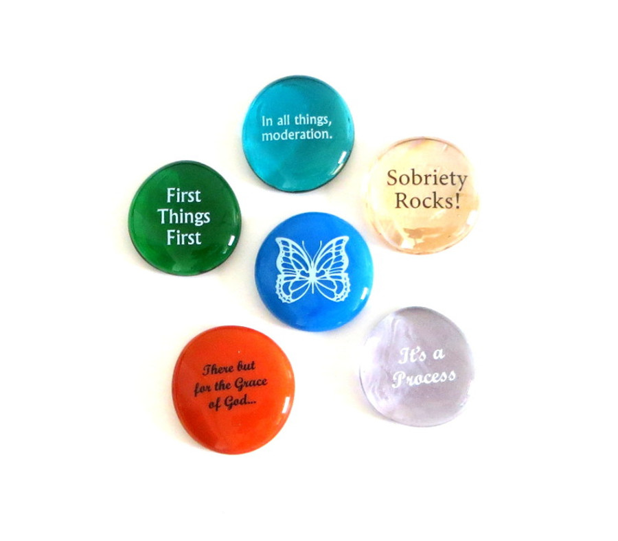 Recovery Stones II, set of six...From Lifeforce Glass