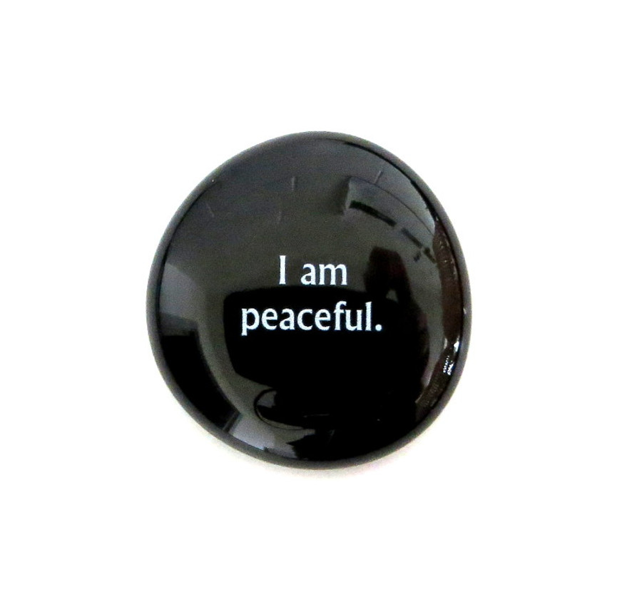 I am peaceful... Glass Stone From Lifeforce Glass