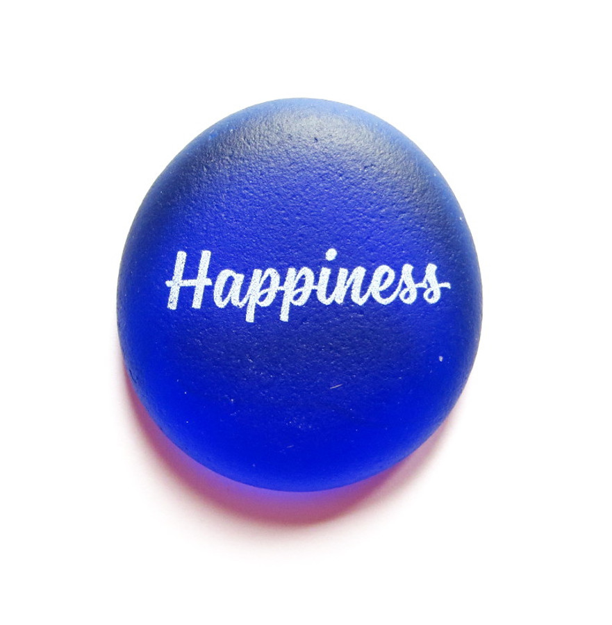 Sea Stone, Happiness, from Lifeforce Glass, Inc.