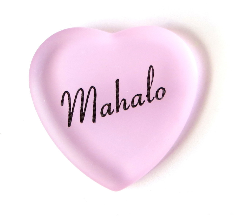 Mahalo Heart, pink, from Lifeforce Glass, Inc.