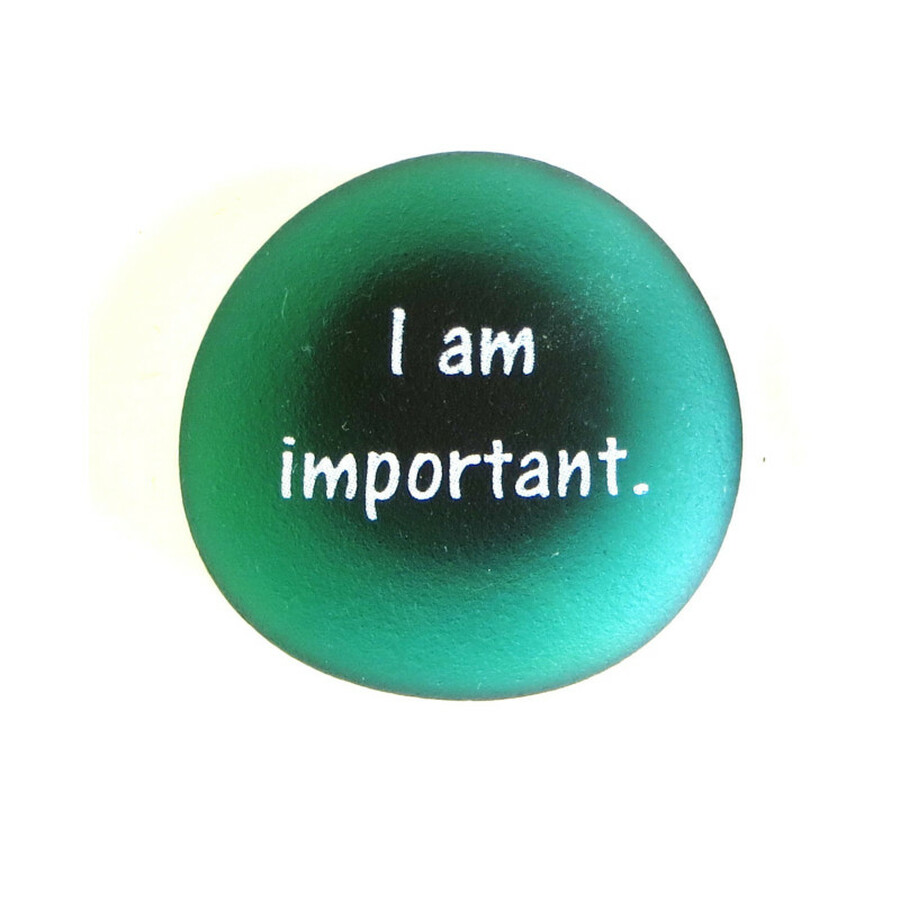 Affirmation Magnet, I am important from Lifeforce Glass, Inc.