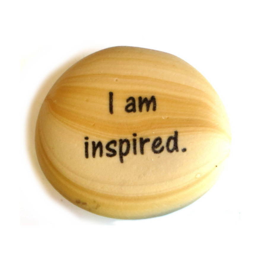 Affirmation Magnet, I am inspired, by Lifeforce Glass, Inc.