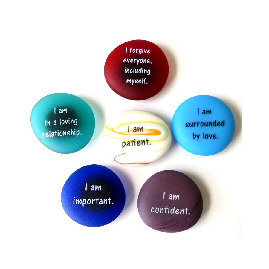 Affirmation Magnets Set III, set of six... From Lifeforce Glass