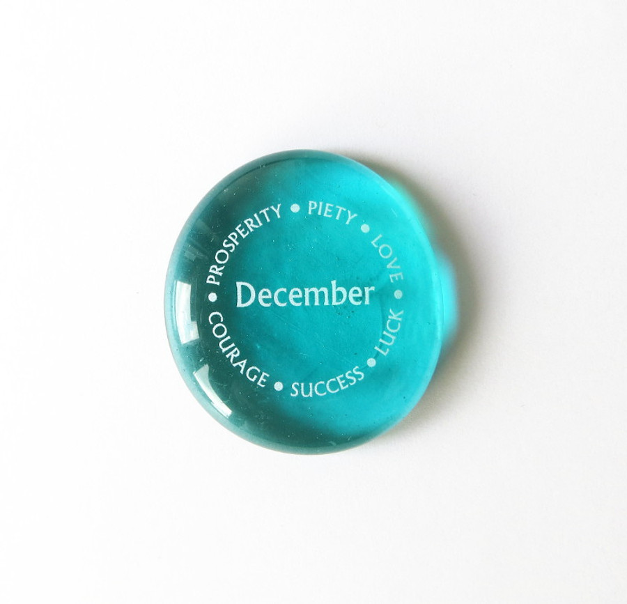 December Birthstone from Lifeforce Glass, Inc.