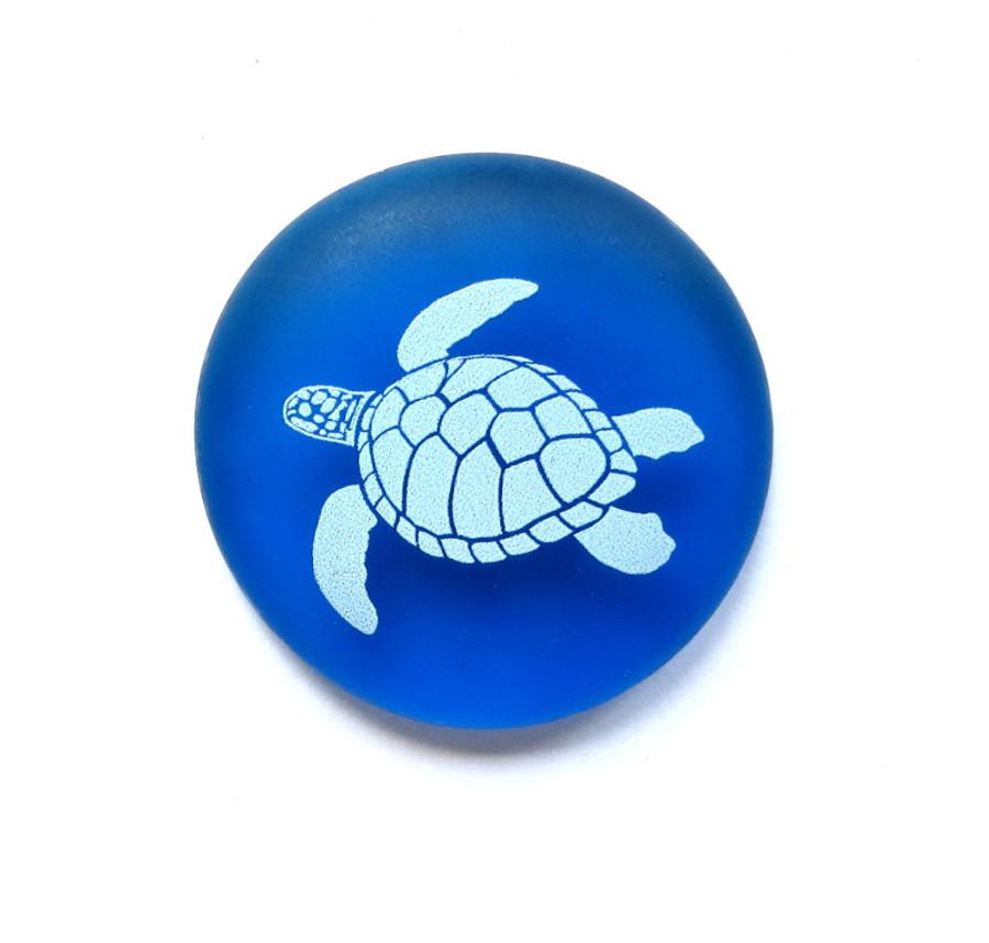 Honu on sea glass from Lifeforce Glass, Inc.
