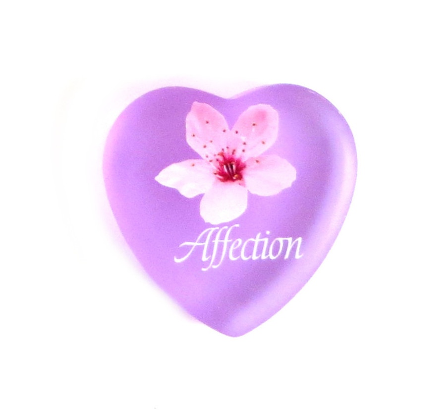 Affection with Pear Blossom - Heart... From Lifeforce Glass