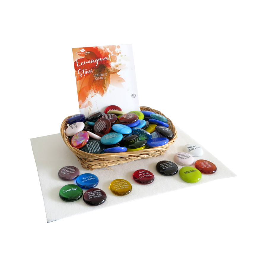 Encouragement Stone Assortment from Lifeforce Glass