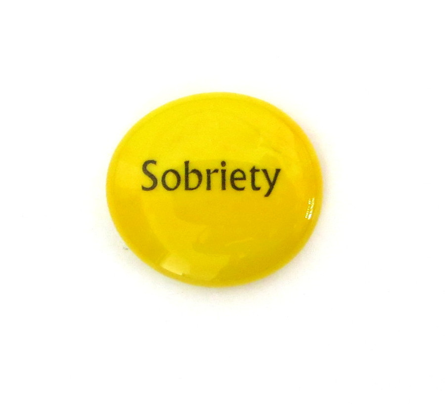 Sobriety... Glass Stone From Lifeforce Glass