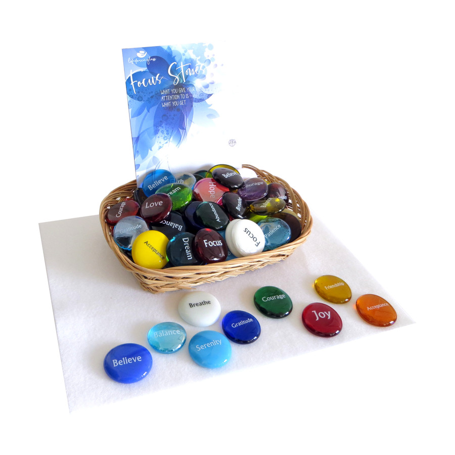 Focus Stone Assortment From Lifeforce Glass