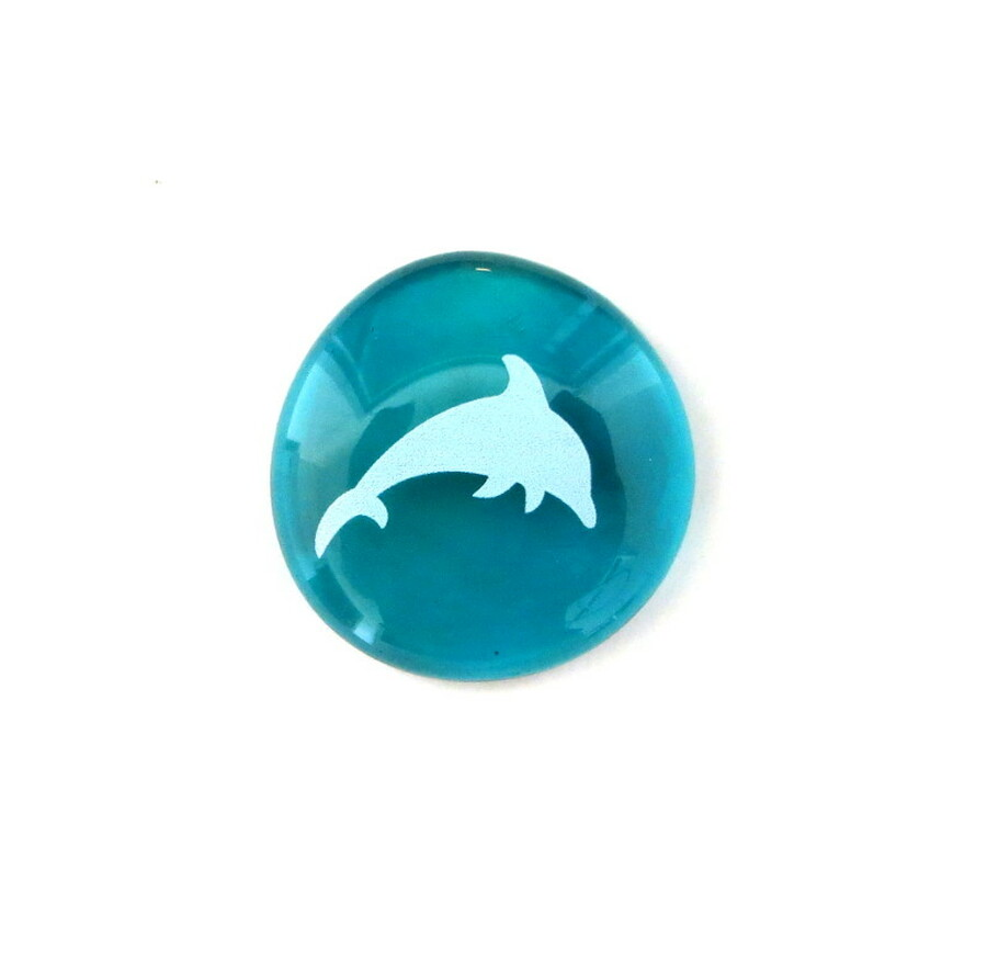 Dolphin... Glass Stone from Lifeforce Glass