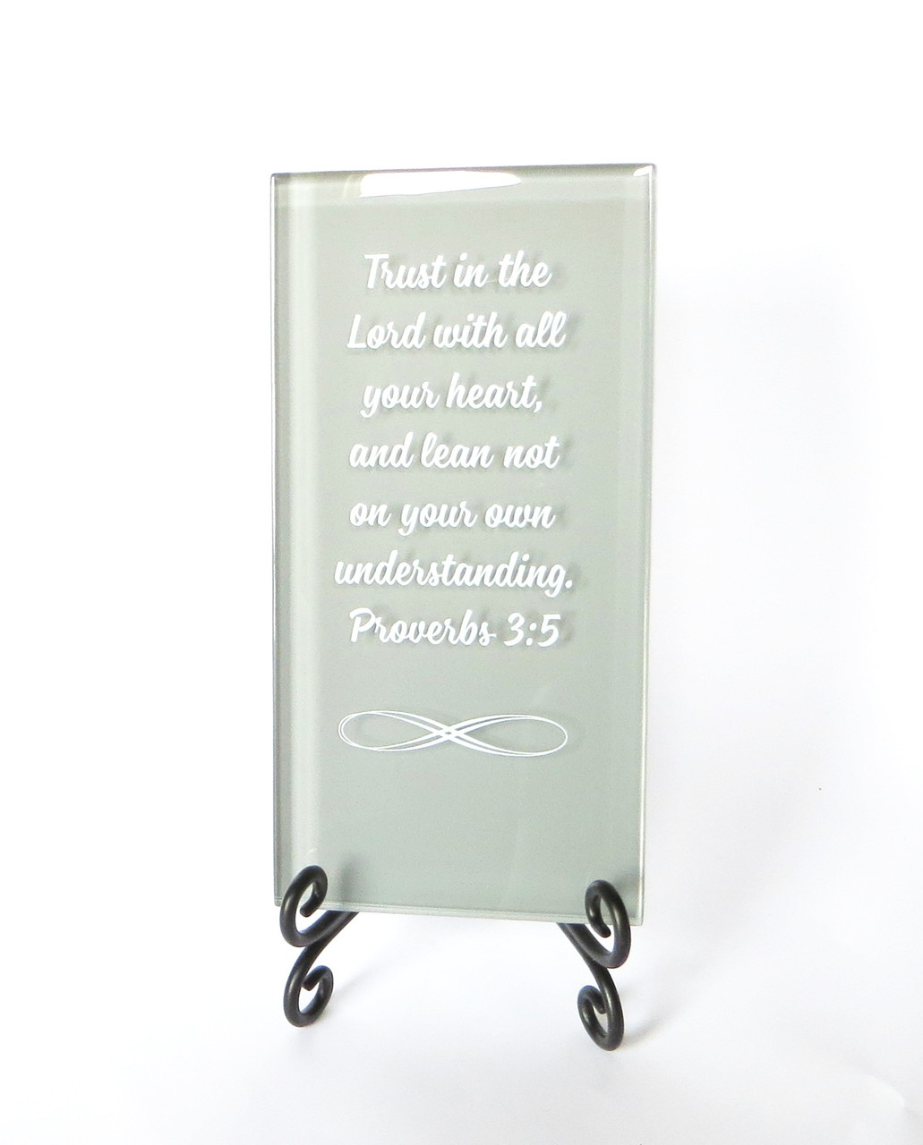 19bc87cbaa88 Trust in the Lord Inspirational Plaque from Lifeforce Glass