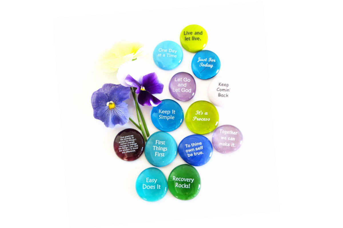 Recovery Stones, Beautiful Encouragement for those in 12 Step Programs