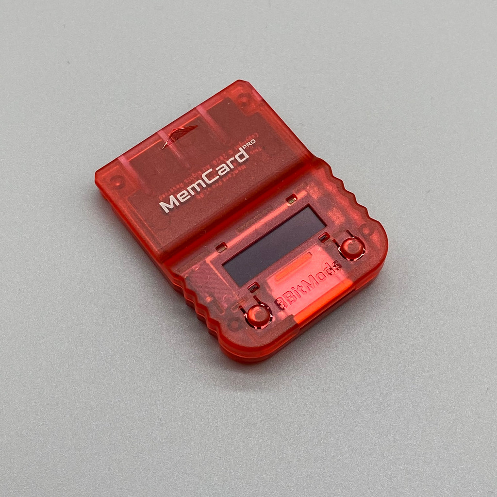 MemCard PRO for PlayStation 1 (Red Frost)