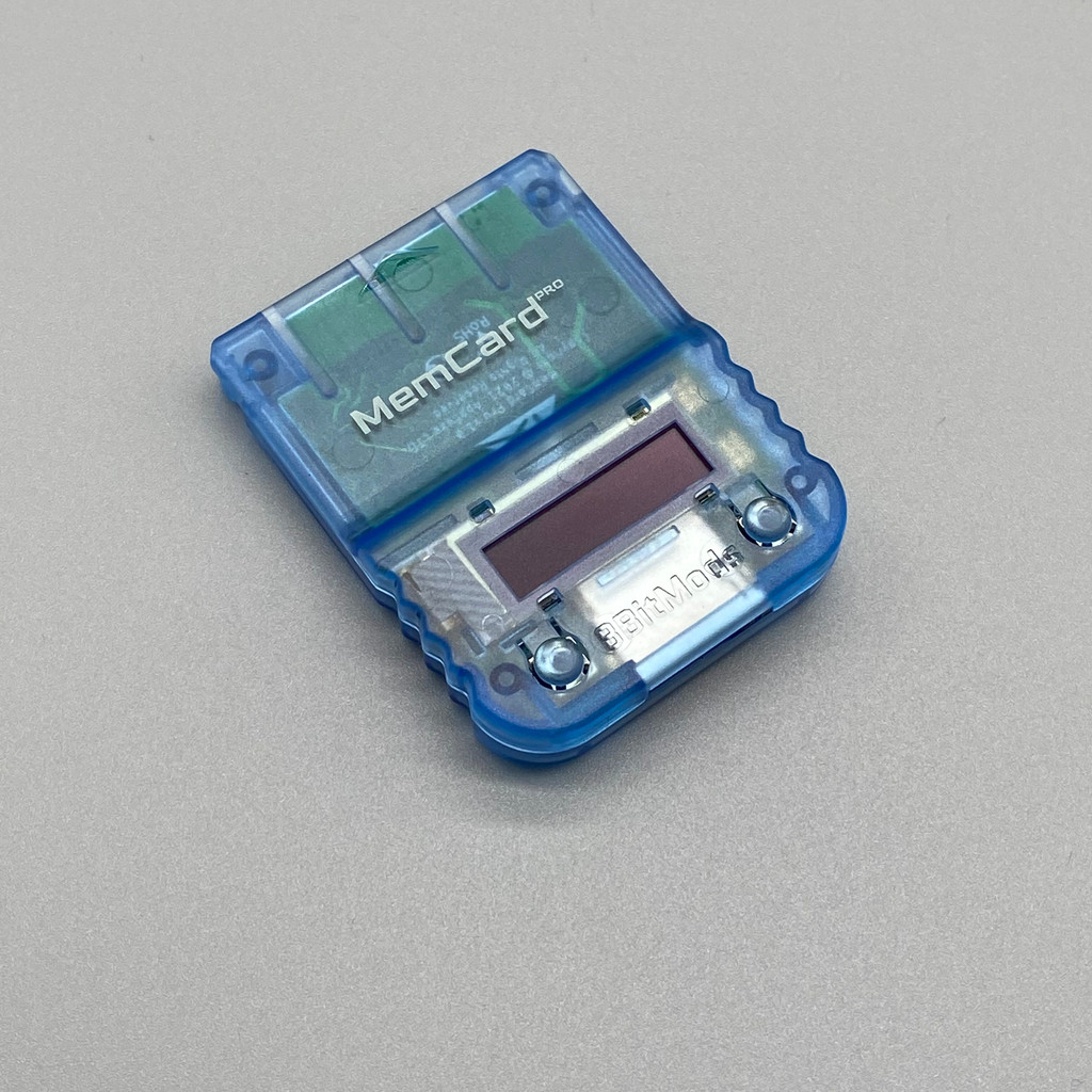 MemCard PRO for PlayStation 1 (Blue Frost)
