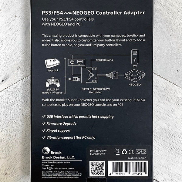 Brook PS2/PS3 to NEO GEO Super Converter