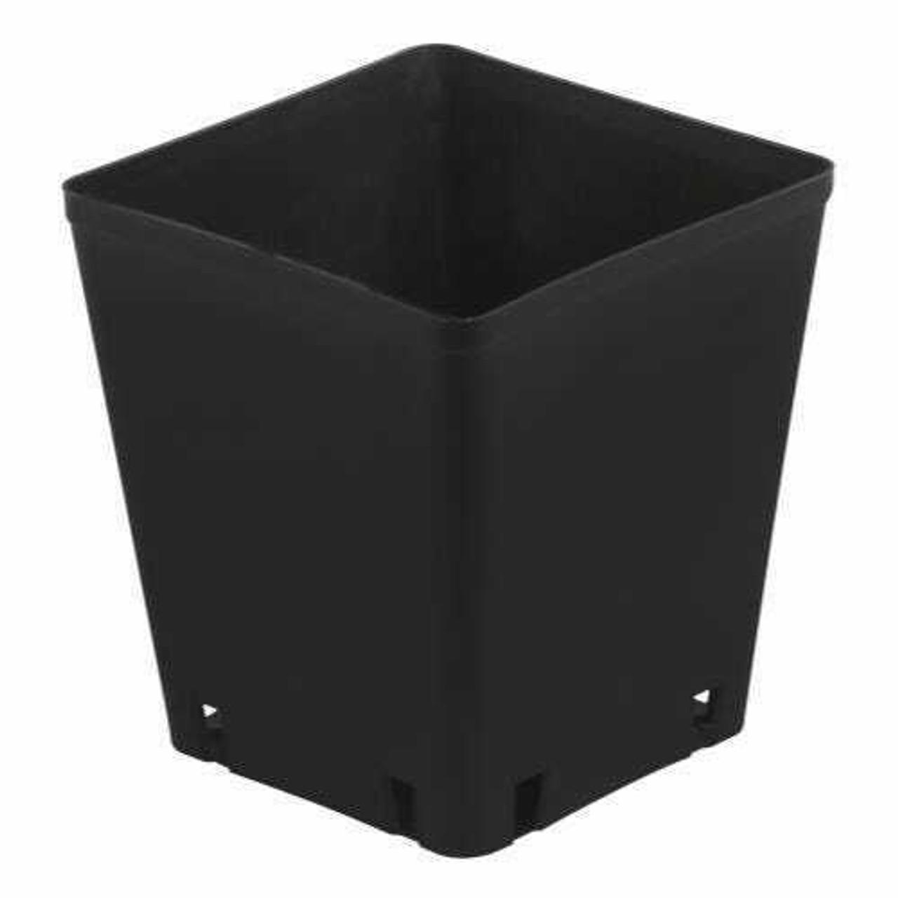 Gro Pro Black Plastic Square Pot 5 x 5 x 5.25 in - 1