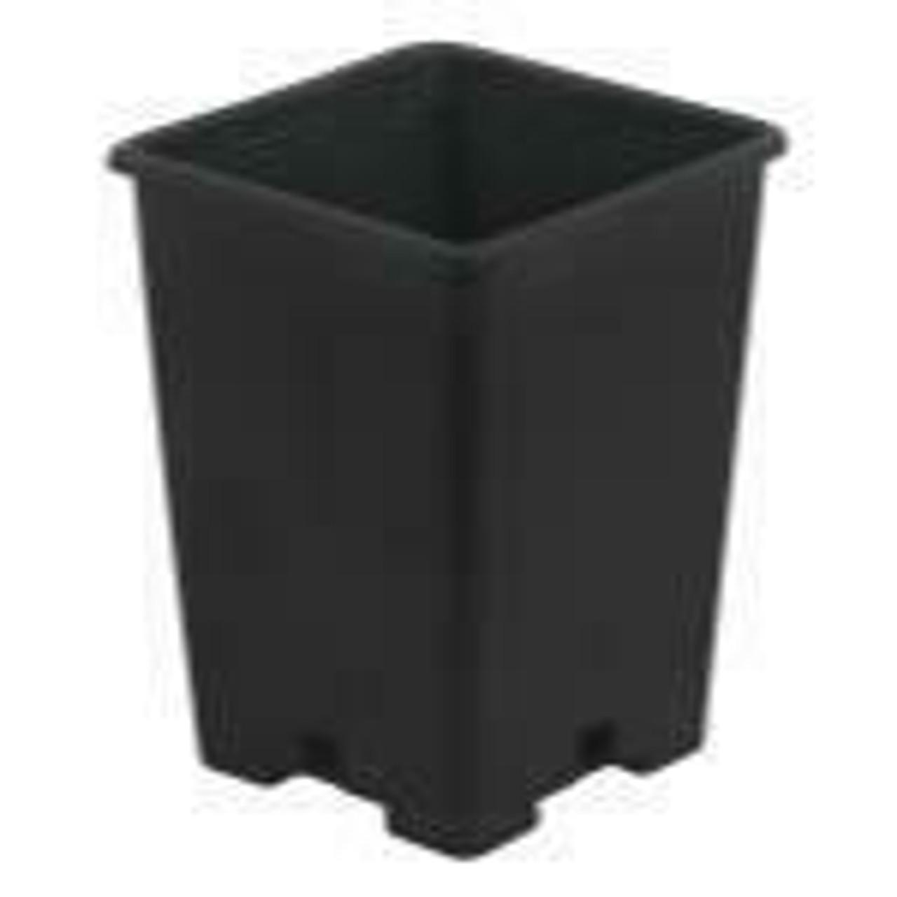 Gro Pro Black Plastic Square Pot 5 x 5 x 7 in - 1