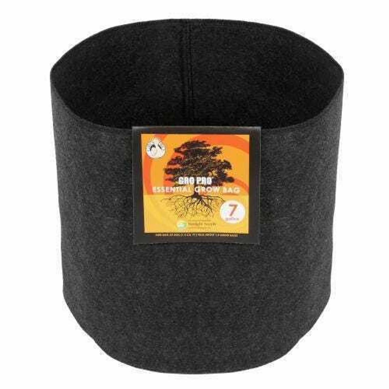 Gro Pro Essential Round Fabric Pot - Black 7 Gallon