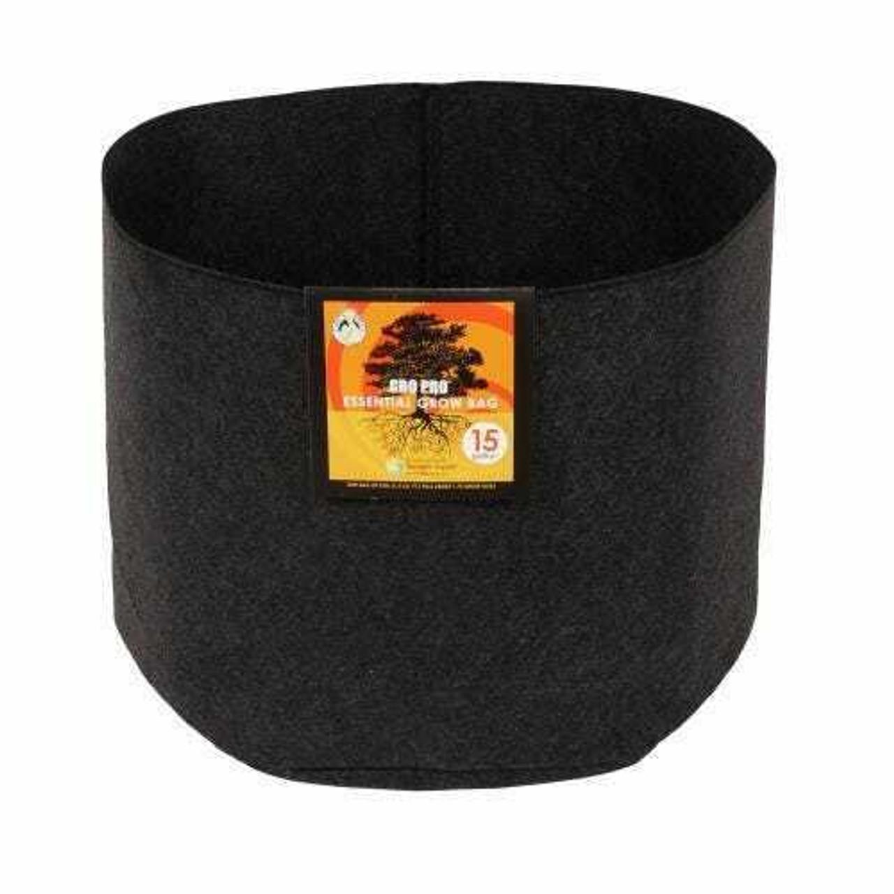Gro Pro Essential Round Fabric Pot - Black 15 Gallon