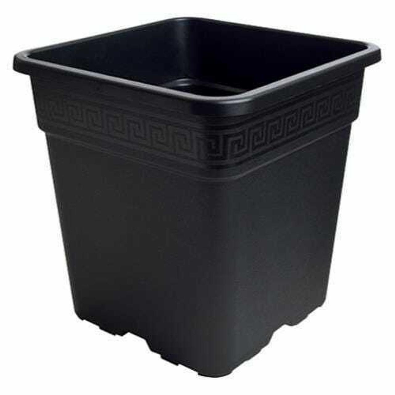 Gro Pro Black Square Pot 5 Gallon
