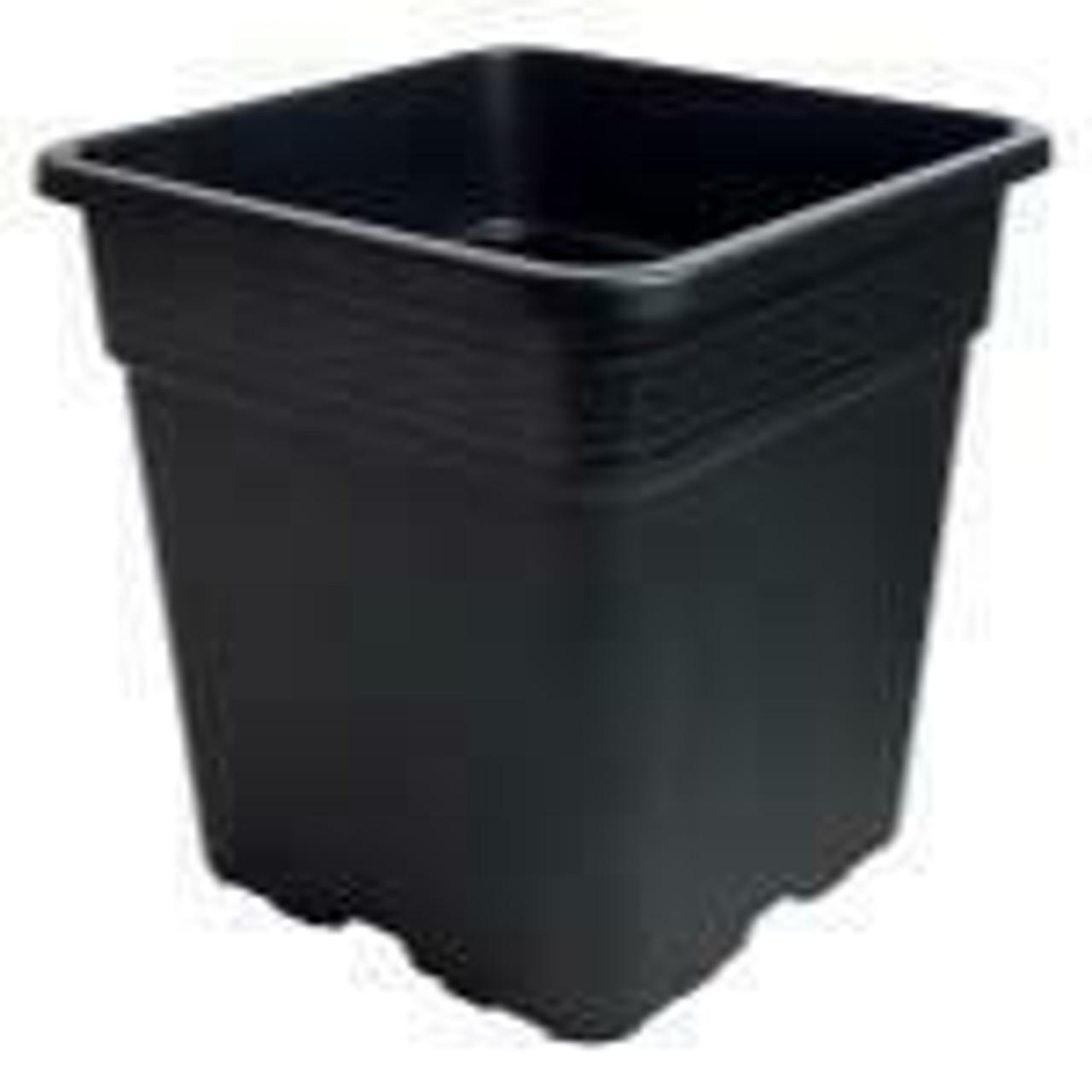 Gro Pro Black Square Pot 5 Gallon - 1