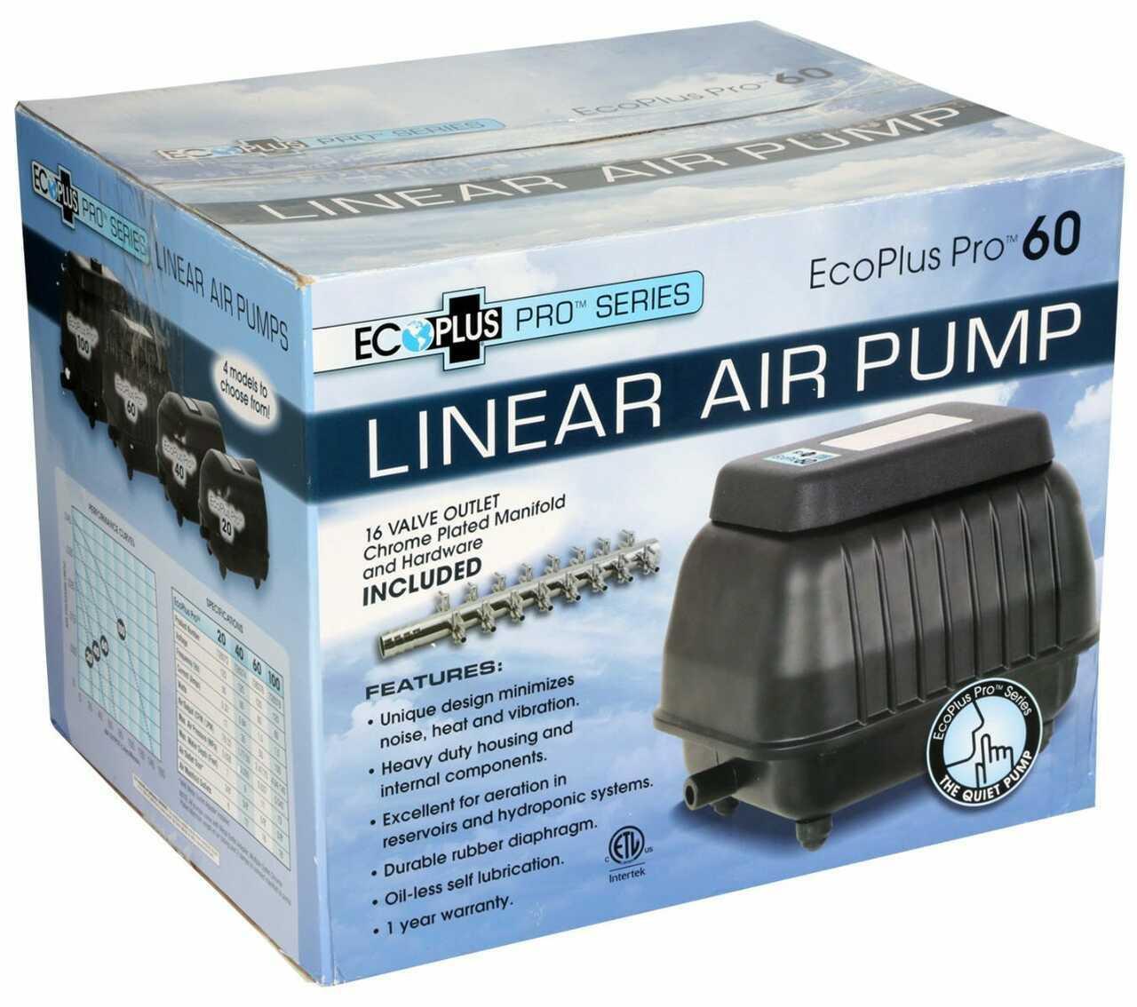 EcoPlus Pro 60 Linear Air Pump 1110 GPH - 1
