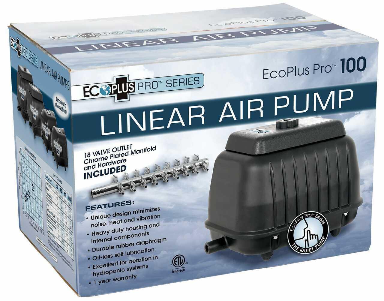 EcoPlus Pro 100 Linear Air Pump 2200 GPH - 1