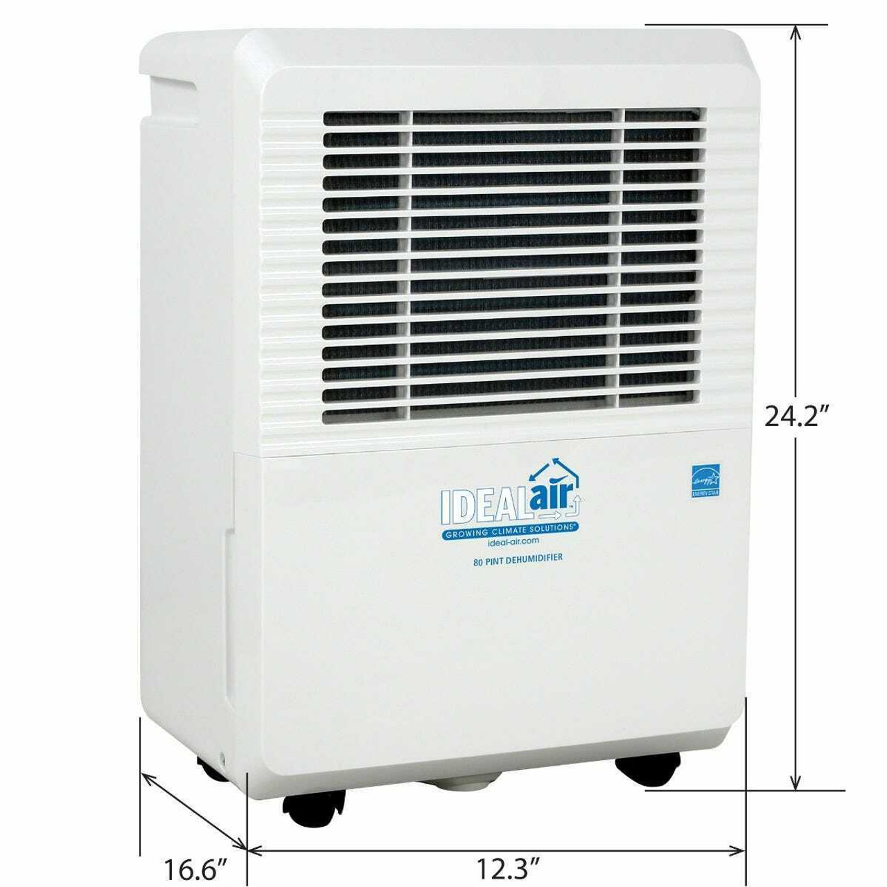 Ideal-Air Dehumidifier 50 Pint - Up to 80 Pints Per Day - 4