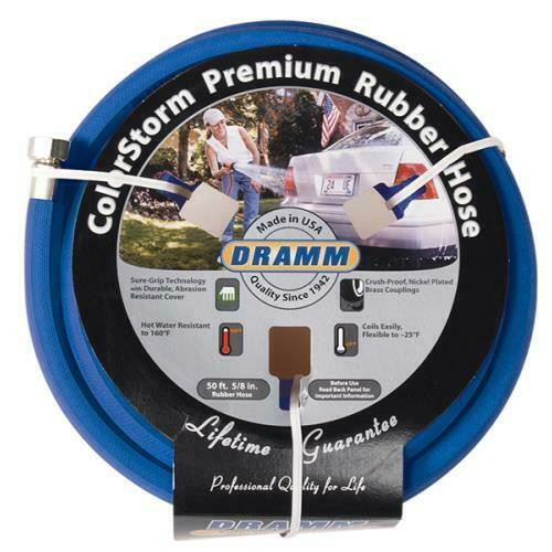 Dramm ColorStorm Premium Rubber Hose 5/8 in 50 ft Blue - 1