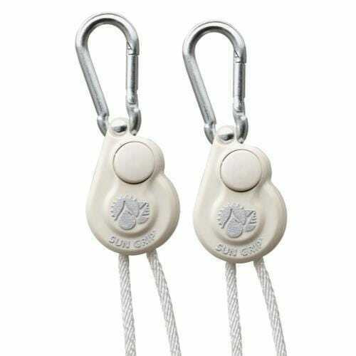 Sun Grip Push Button Light Hanger 1/8 in White -1/Pair - 1